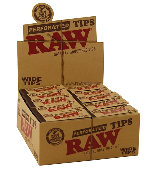 RAW WIDE TIPS for CBD joints